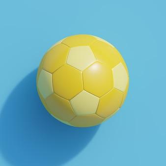 Gelber fußball auf blau