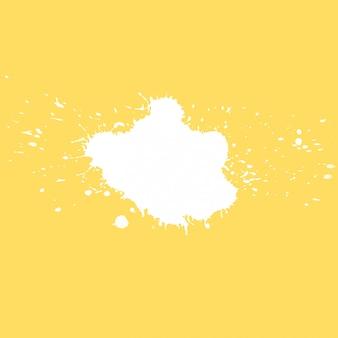 Gelber hintergrund mit spritzen für exemplar