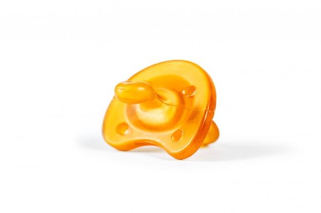 Gelber latexnippel getrennt