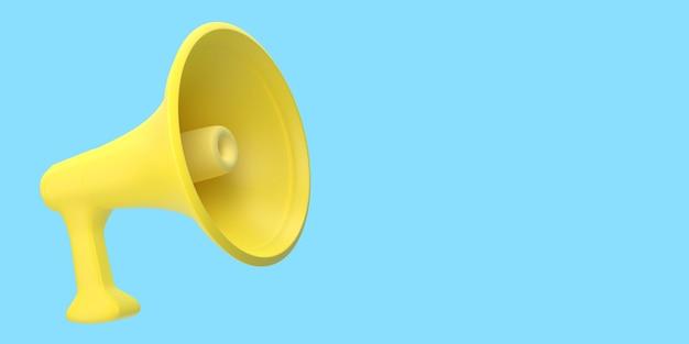 Gelber lautsprecher schreit megaphon