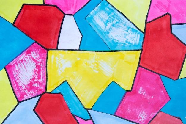 Gelber marker-grafik-textur-abstrakter hintergrund