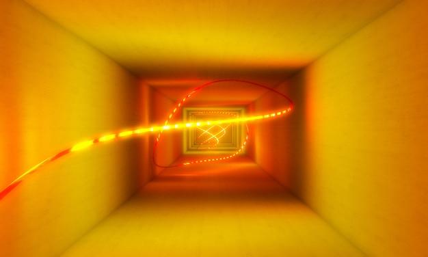 Gelber neonlicht-zusammenfassungshintergrund