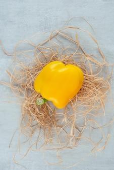 Gelber paprika auf stein