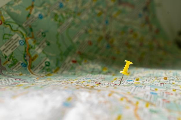 Gelber punkt in der karte