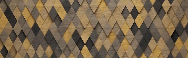 Gelber rhombus 3d-musterhintergrund