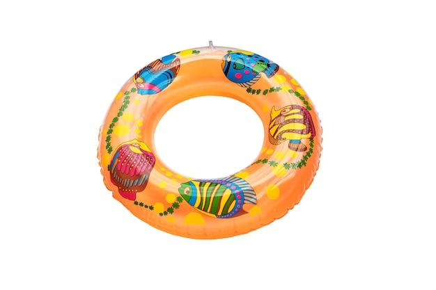 Gelber schwimmring isoliert