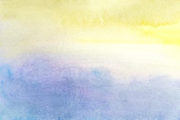 Gelber und blauer aquarellhintergrund mit gelb