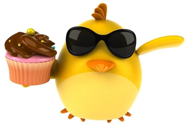 Gelber vogel - 3d-charakter