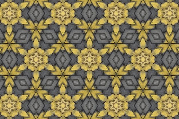 Gelbes abstraktes hintergrundmuster