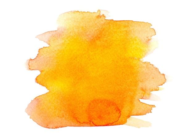 Gelbes aquarell auf weiß