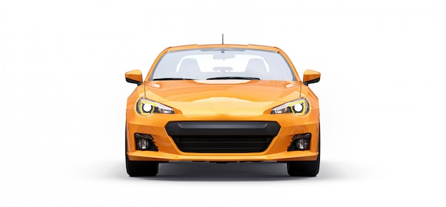 Gelbes kleines sportwagencoupé