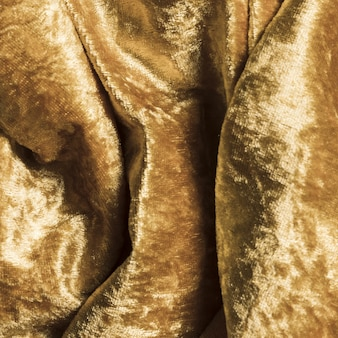 Gelbes material aus seidenstoff für die heimdekoration