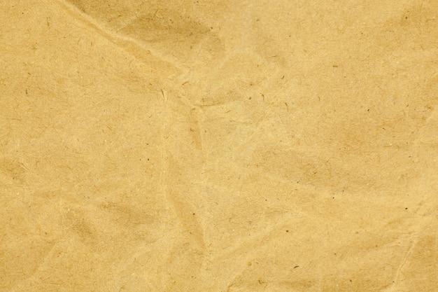 Gelbes papier zerknitterte textur hintergrund.