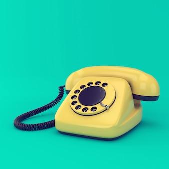 Gelbes retro-telefon