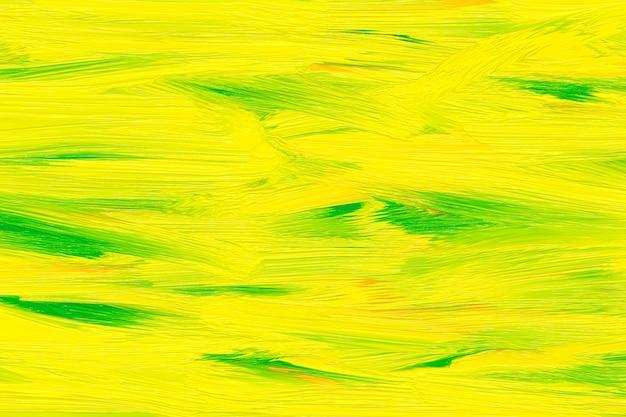 Gelbes und grünes muster an der wand. ölfarben vorlage. helle farben, aquarellzeichnungsentwurf, abstrakter gemalter hintergrund.