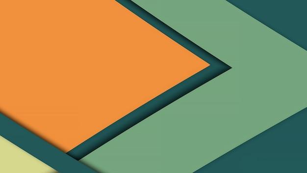 Gelbgrüner lockiger abstrakter flexibler hintergrund, geschwungene streifen in verschiedenen farben