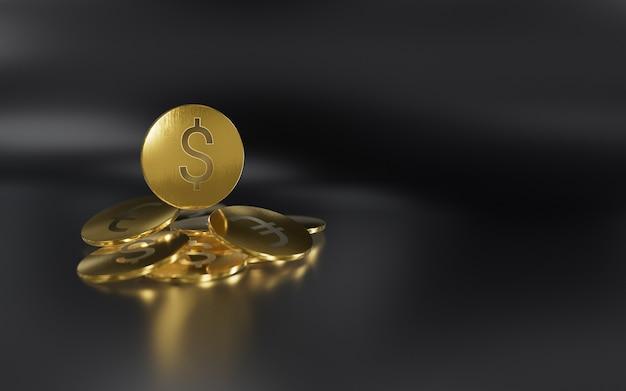 Geld auf dem hintergrund verließ euro-dollar-bitcoin