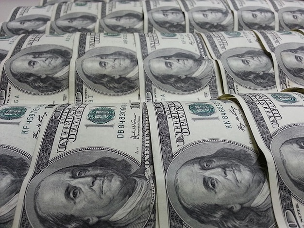 Geld-dollar währung benjamin franklin