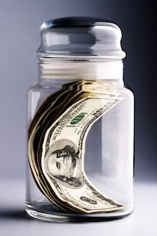Geld im glas