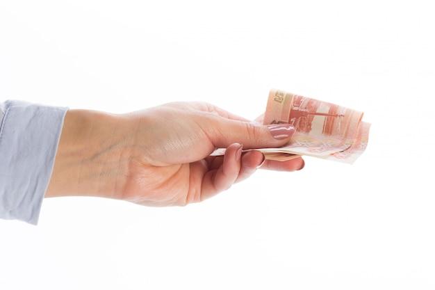 Geld, isoliert auf weiss
