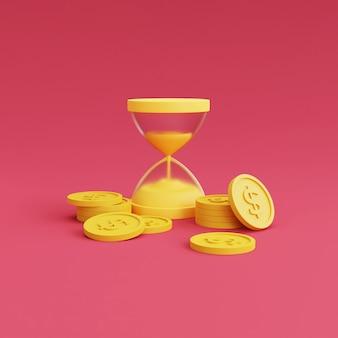 Geld- und sanduhr-finanzkonzept