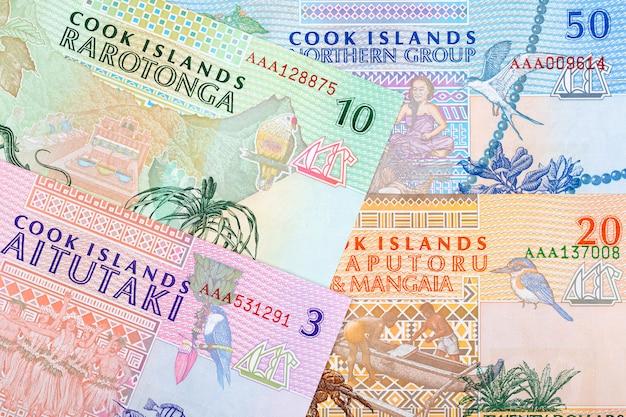 Geld von den cookinseln-banknoten