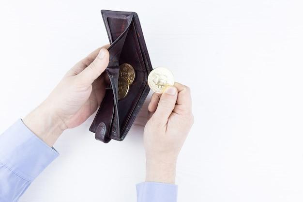 Geldbörse mit bitcoin