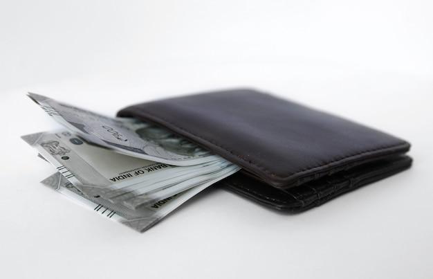 Geldbörse mit indischem geld