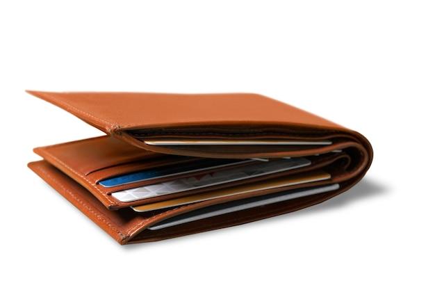 Geldbörse mit kreditkarten drin