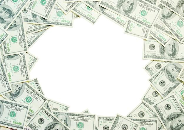 Geldrahmenhintergrund
