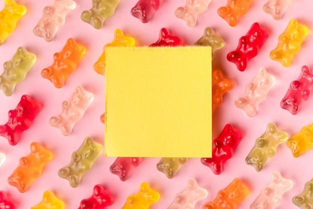 Gelee bietet platz für text