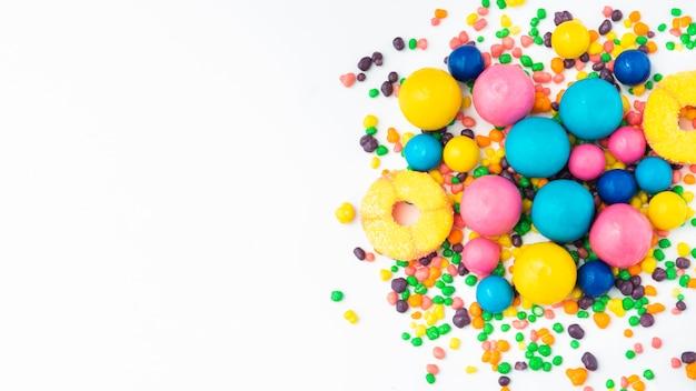Gelee früchte und süßigkeiten mit textfreiraum