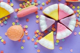 Gelees und Süßigkeiten-Gelee-Kuchen