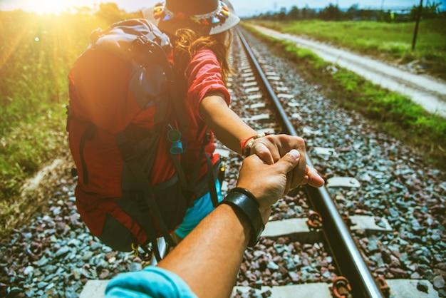 Geliebte frauen und männer asiatische reise landschaft