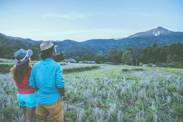 Geliebte frauen und männer asiatische reise natur
