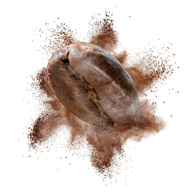 Gemahlene kaffeebohnenexplosion