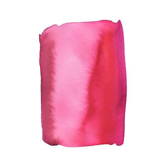 Gemalte mode. aquarellmalereibeschaffenheit in den rosa und roten farben.