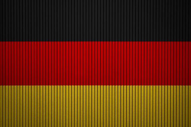 Gemalte staatsflagge von deutschland auf einer betonmauer