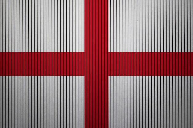 Gemalte staatsflagge von england auf einer betonmauer