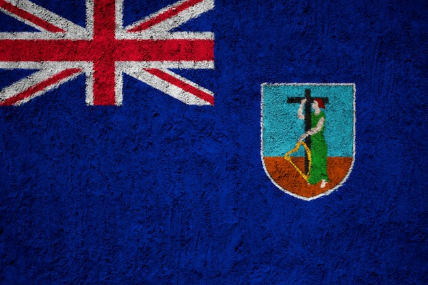 Gemalte staatsflagge von montserrat auf einer betonmauer