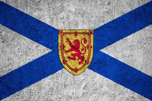 Gemalte staatsflagge von nova scotia auf einer betonmauer