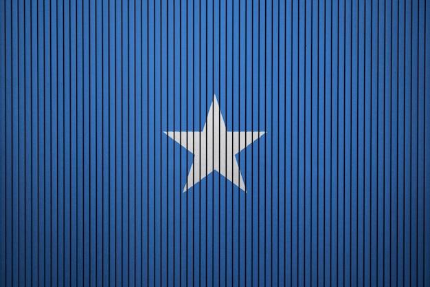 Gemalte staatsflagge von somalia auf einer betonmauer