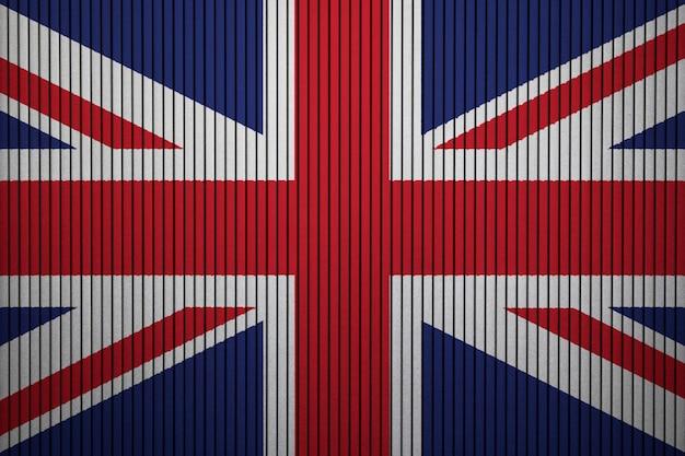 Gemalte staatsflagge von vereinigtes königreich auf einer betonmauer