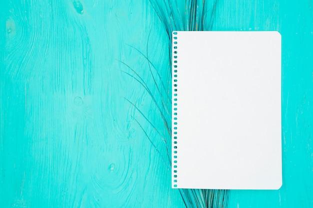 Gemaltes azurblaues gras und papier
