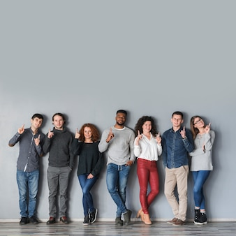 Gemeinschaftskonzept mit einer gruppe von personen