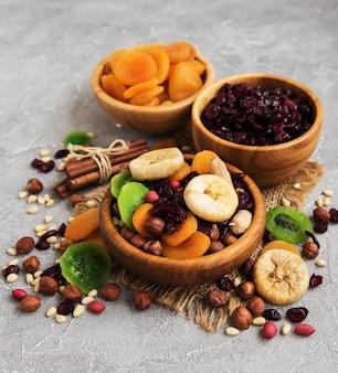 Gemischte getrocknete früchte