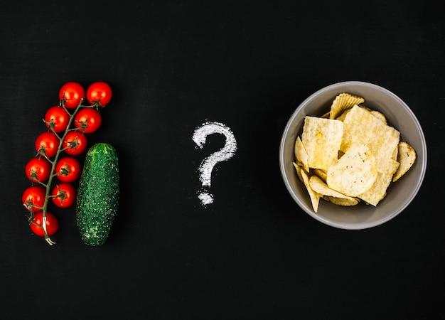 Gemüse gegen chips