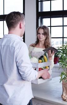 Gemüse lieferung
