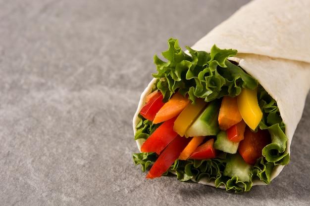 Gemüse tortilla wraps