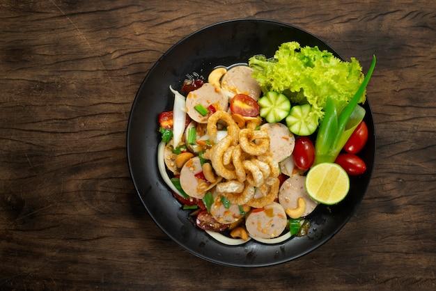 Gemüse- und gurkengericht
